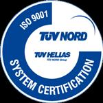 Tuv Hellas ISO-9001 certificate